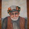 Old Man with Flowers, 1967, oil, 16x20