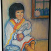 59  Hopi Girl with Kachina - pastel on paper, 24x18  DSCN2635s