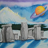 Stonehenge Revisited, 15x25 watercolor, completed ,aug 20, 2012  Dscn1418aa
