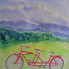 After the storm, let's ride, 9x12 watercolor, aug 18, 2013 Cimg8908ss