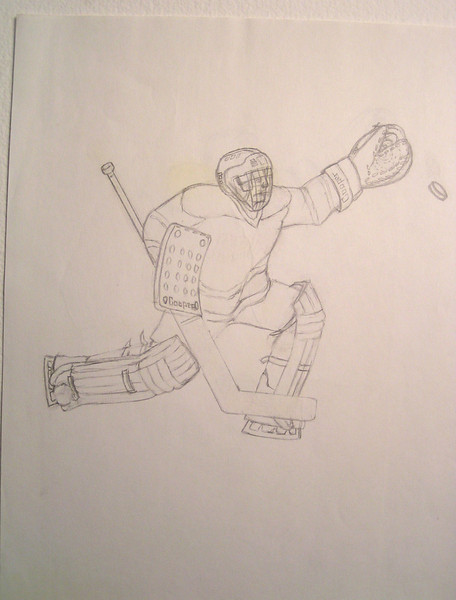 Squirt Tourney Design, 1985, pencil, 8 5x11