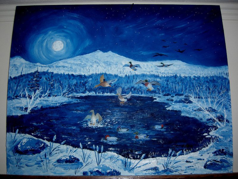 Night Landing, oil, 16x20, completed jan 21, 2013  - sold, Keith G