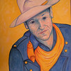 John Wayne, 1997, oil, 22x30, gift to Jenny