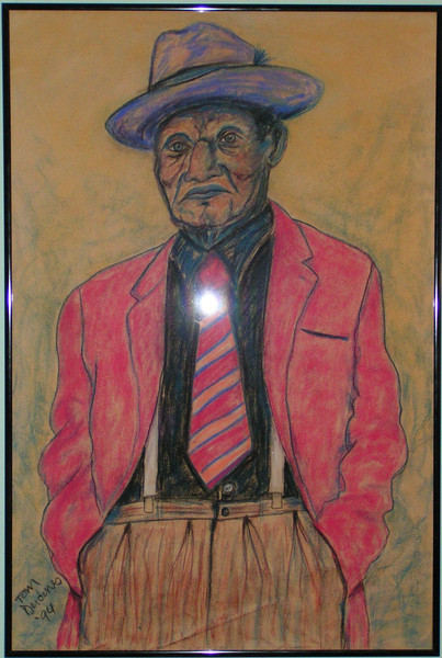 The Gray Ghost-Roosevelt Thomas Williams, 1994, pastel, 24x36