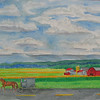 Amish Country, 10x14 watercolor, june 3, 2013  CIMG8745ss