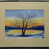 28  Winter Sunset on the Saranac River - watercolor, 10x14  DSCN2612s