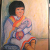 Navaho Girl with Kachina, 1994, pastel, 18x24