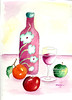 Wine Bottle and Fruit