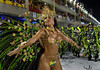A dancer from Unidos da Tijuca samba school performs at the Sambadrome during the samba school parade in Rio de Janeiro, Brazil, February 14, 2010. (Austral Foto/Renzo Gostoli)