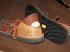 """Thin Cushi and the Vibram """"Newsole"""" plate sole."""
