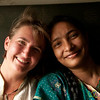 Audrey and Young Bangladeshi Woman - Khulna to Rajshahi, Bangladesh