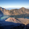 Gunung Baru, the 'New Mountain', and  Segara Anak, 'Child of the Sea' — Mt. Rinjani, Lombok, Indonesia