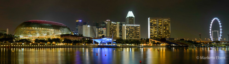 Singapore Harbor panorama