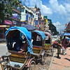 Rickshaws for hire near Thamel