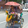 Decked out rickshaw