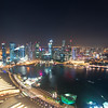View from Marina Bay Sands Skypark - Singapore