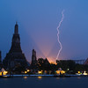 Lightning at Wat Arun