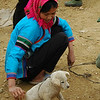 Woman and Puppy - Bac Ha, Vietnam