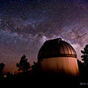The Milky Way over The Jameson Telescope dome at Mt. Lemmon SkyCenter