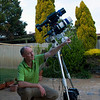 Geoff with his Telescope - Apogee 80mm APO with Orion ST80 Guidescope - 30/10/2013 (Processed image)