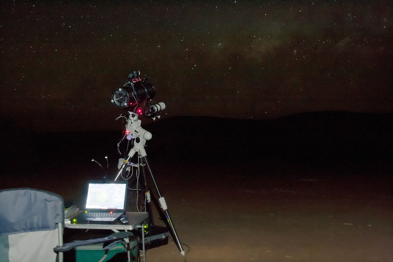 Imaging at Mt Augustus under the Milky Way - 25/9/2014 (Processed single image)