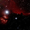 IC434 Horsehead Nebula and NGC2024 Flame Nebula near Star Alnitak - 3/1/2014 (Processed cropped stack)