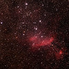 IC4628 - Gum56 - Prawn Nebula in Scorpius - 27/6/2014 (Processed stack)