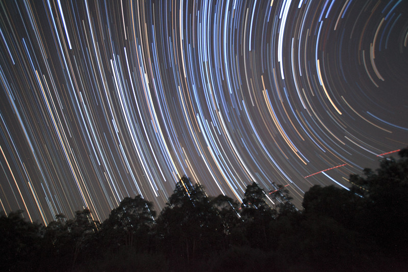 The Scorpion Rises - Star Trails - 21/2/2015 (Processed unaligned stack)