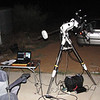 Geoff's scope setup in the hope of clearing cloud at Wade and Margaret Howlett's place in Bullsbrook - 26/11/2011