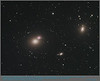 """Messier 60 aka NGC4649 (elliptical galaxy) is approximately 55mio light years away.    Hubble Telescope studies show the """"overlapping"""" spiral galaxy NGC4647 is beginning to show some signs of tidal interaction.  The pair on the left is also known as ARP 116.  On the right is elliptical galaxy M59 (NGC4621) in Virgo.<br /> Image captured with TEC160FL @ f/7 using SBIG ST-8300M and Astrodon LRGB filters.  Mount AP900GTO.<br /> Lum: 13x15m(1x1); RGB: 14x10m(2x2) each.  April-May, 2014."""