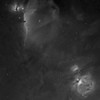 Orion and Horsehead Nebula in h-alpha; Takahashi FSQ-106ED; 64 minutes; FLI PL16803