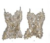 Gilded Corset I & II-Raboin, 21x34x4 5 & 21x32x4 5, painting with mixed media on metal