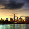 Downtown Austin Texas from the Boardwalk on Ladybird Lake #9