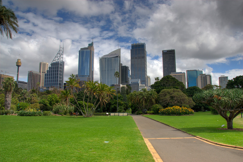 Sydney Skyline from Botanical Garden HDR