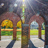 Lens Flare Through Arches
