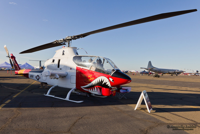 SACRAMENTO, CA - SEPT 8: Bell AH-1 Cobra Helicopter on display during California Capital Airshow on September 8, 2012, Sacramento, CA.