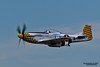 HILLSBORO, OR - AUG 5: Eddie Andreini demonstrates his P-51D Mustang during Oregon Air Show at Hillsboro Airport on August 5, 2012 in Hillsboro, OR.