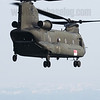 A Republic of Singapore Air Force Boeing-Vertol CH-47SD Chinook in flight over Singapore's Eastern Anchorage