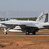 One of the most significant aspects of 2012's Pitch Black was the first ever employment of Active Electronically Scanned Array (AESA) radar at the exercise. One of the new types carrying the AESA were the RAAF Super Hornets. Here A44-224 carries a travel pod on one of its portside pylons.