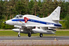 This A-4N Skyhawk (N431FS; cn14504) from BAE Systems Flight Systems is seen here completing its landing roll on Wittmund's RWY26 at the end of another mission during the JAWTEX-exercise.