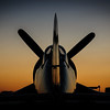 P-51 Tail at Sunset