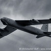 "Cold Warrior - A B-52 Stratofortress or ""BUFF"" making a high speed pass under a heavy cloud deck. Vidalia, Georgia"