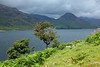The view across Wast water from the western tip of the lake looking across to Yewbarrow, 18/06/11