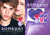 JUSTIN BIEBER Someday 2011 US recto-verso with scented strip (Sephora stores gift set)