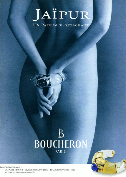 BOUCHERON Jaïpur 1998 France 'Un parfum si attachant'  (3 lines outlets)