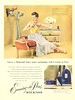 BOURJOIS Evening in Paris 1949 US 'You're a thousand times more enchanting with Evening in Paris'