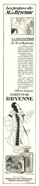 BRYENNE Heure Exquise 1927 France (quarter-page)