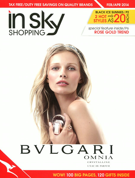BULGARI Omnia Crystalline L'Eau de Parfum 2014 Australia (cover In Sly Shopping mag)