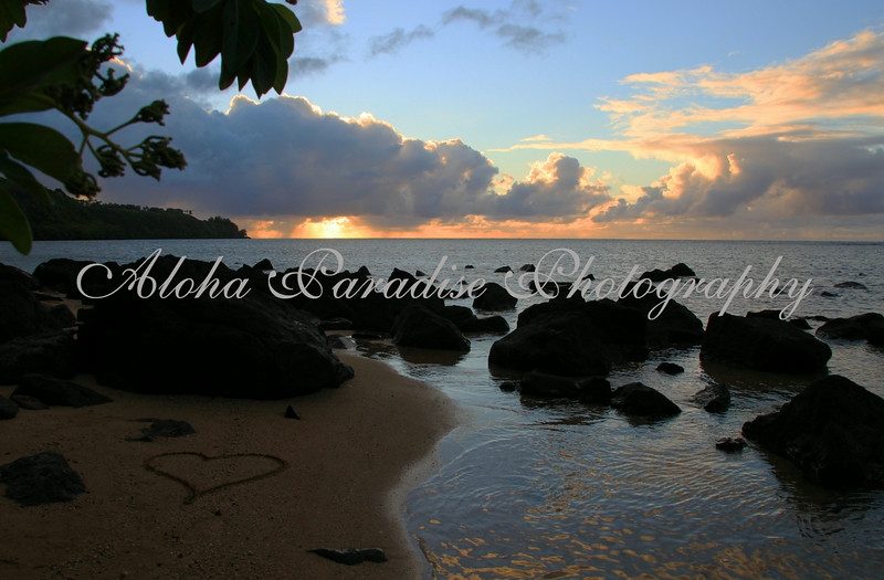 ANINI BEACH, SUNSET, KAUAI