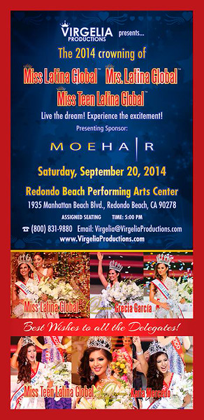 9-20-2014 MISS LATINA GLOBAL BEAUTY PAGEANT - VIRGELIA PRODUCTIONS